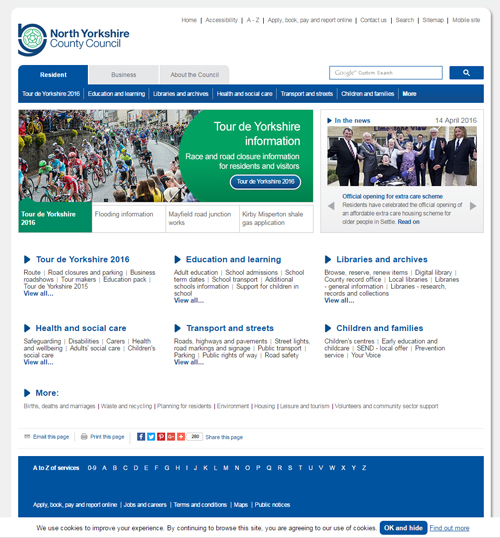 North Yorkshire County Council website